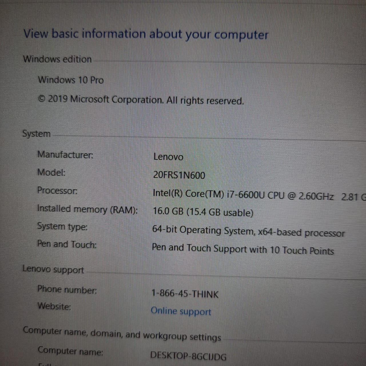 Thinkpad Lenovo X1 Yoga core i7, 16GB RAM, 360 Touch Screen