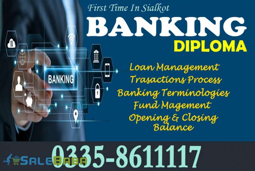 Professional banking course, professional banking course in Sialkot cantt pakist