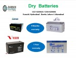 DRY BATTERY VISION  12V  65AH  12 MONTHS WARRANTY  INSTALLATION FACILITY