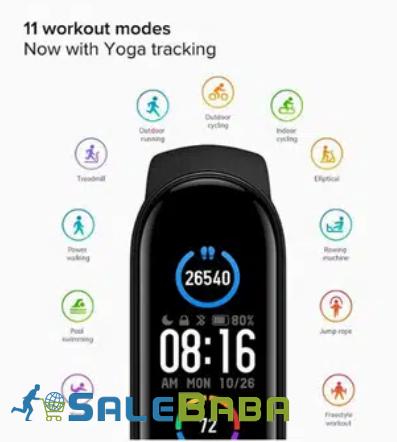 M5 Smart Fitness Band  Black Color on Sale   in Karachi