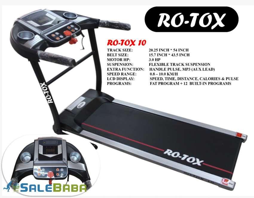 Rotox 10  Motorized Treadmill (30HP)  Black